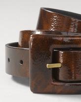 Coldwater Creek Patent reversible belt