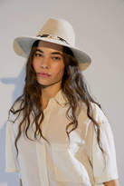 Urban Outfitters Penny Animal Print Trim Panama Hat