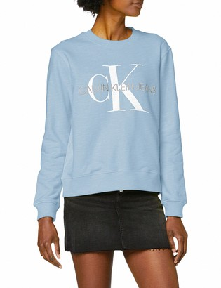 Calvin Klein Jeans Women's Vegetable DYE Monogram Crew Neck Sweatshirt