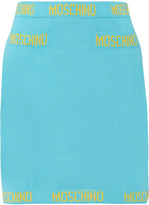 Moschino Intarsia-knit mini skirt