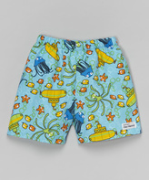 Flap Happy Blue Sub Club Swim Shorts - Infant Toddler & Boys