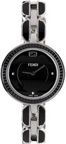 Fendi Silver and Black My Way Fur Glamy Watch