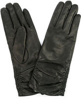Jendi NEW Black Rusched Leather Gloves Small