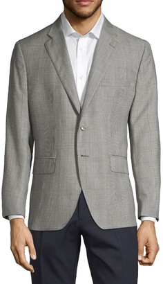 Saks Fifth Avenue Made In Italy Plaid Wool Sportcoat