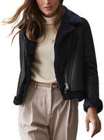 Reiss Daisy Leather Jacket