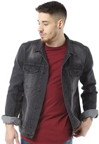 Religion Mens Rock Denim Jacket Washed Black
