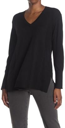 NYDJ V-Neck Knit Pullover Sweater