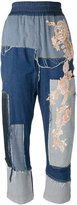 Antonio Marras patch-work jeans - women - Cotton/Spandex/Elastane - 38