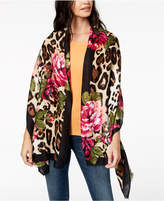 INC International Concepts I.N.C. Floral Leopard-Print Scarf & Wrap in One, Created for Macy's