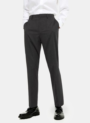 Topman Charcoal Grey Slim Fit Suit Trousers