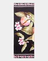 Ted Baker Peach Blossom silk cape scarf