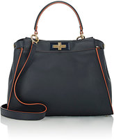 Fendi Women's Peekaboo Satchel-NAVY