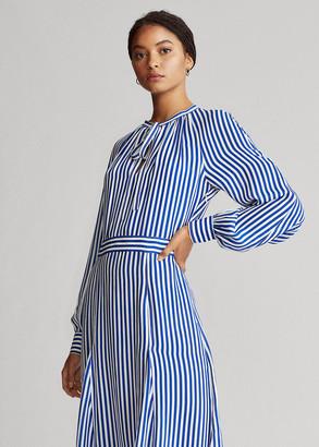 Ralph Lauren Striped Silk-Blend Dress