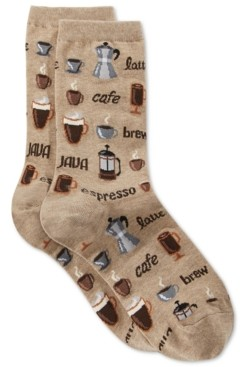 Hot Sox Women's Coffee Fashion Crew Socks