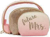 Asstd National Brand Bride To Be 3PC Makeup Bag Set