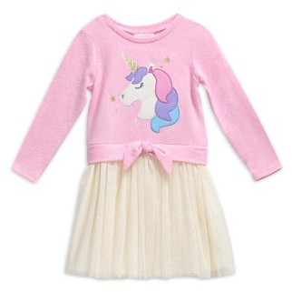 Youngland Girls Tie Front Sweater and Dress Twofer, Sizes 4-6X