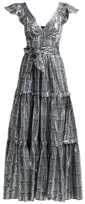 Temperley London Eliska Fil-coupe Lame Gown - Silver