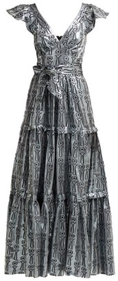 Temperley London Eliska Fil-coupe Lame Gown - Womens - Silver