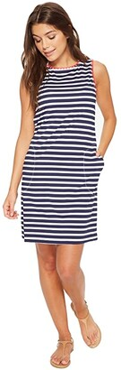 Tommy Bahama Breton Stripe Swim Dress Cover-Up (Mare Navy/White) Women's Swimwear