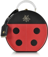 Charlotte Olympia Black and Red Lucky Atkinson Leather Clutch
