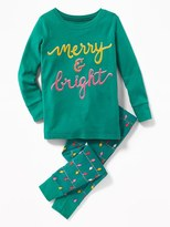 """Old Navy """"Merry & Bright"""" Sleep Set for Toddler & Baby"""