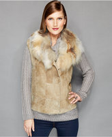 The Fur Vault Fox-Fur-Collar Shearling Vest