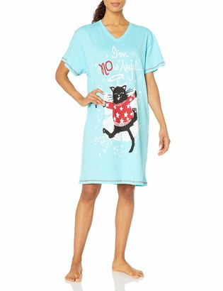 Hatley Little Blue House by Women's Holiday V-Neck Sleepshirt