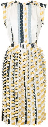 Maison Margiela printed 3D midi dress
