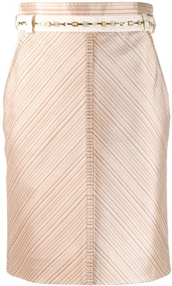 Louis Vuitton 2000s pre-owned V-striped straight skirt
