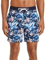 Michael Bastian Floral Print Swim Shorts