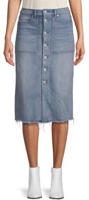Scoop Boot Skirt Light Wash Women's