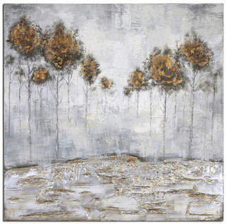 """Uttermost Iced Trees"""" Abstract Art, 48""""x48"""""""
