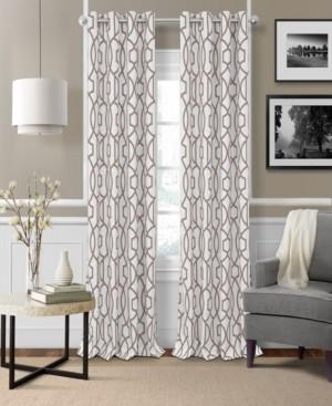 """Elrene Celeste 52"""" x 84"""" Textured Ironwork Blackout Grommet Curtain Panel"""