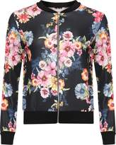 GirlzWalk ® Ladies Floral Print Bomber Jacket Women Casual Bomber Jacket Top