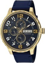 Versus By Versace Men's 'Globe' Quartz Stainless Steel and Rubber Casual Watch, Color: (Model: SBA110015)