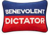 Jonathan Adler UK Needlepoint Personality Pillow - Benevolent Dictator