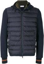 Moncler padded front zip sweatshirt
