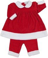 Kissy Kissy Yuletide Dress w/ Legging (Baby)-Red-0-3 Months