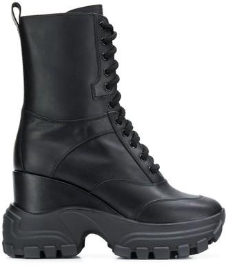 Miu Miu Chunky Military Boots