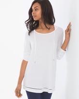 Soma Intimates Tab Sleeve Pullover Hoodie Bright White