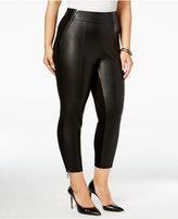 Melissa McCarthy Trendy Plus Size Mixed-Media Leggings