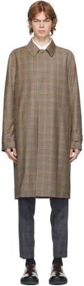 Paul Smith Beige Check Wool Coat