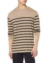 Urban Classic Men's Langarmshirt Gestreift Color Block Stripe Boxy Ls T-Shirt