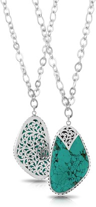 Lois Hill Sterling Silver Turquoise Pendant Necklace