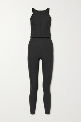 Nike Yoga Infinalon And Stretch-jersey Jumpsuit - Black