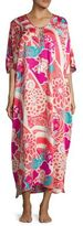 Natori Floral Caftan Dress