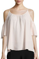 French Connection Polly Plains Cold Shoulder Blouse