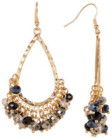 Natasha Accessories Beaded Teardrop Dangle Earrings