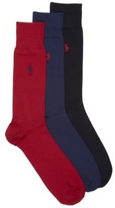 Polo Ralph Lauren Super Soft Crew Dress Socks 3-Pack