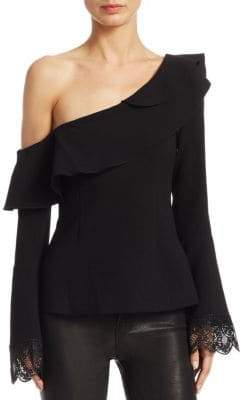 Nicholas Crepe One-Shoulder Top